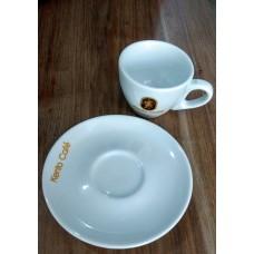 Jogo Xícara e Pires Kento Café em Porcelana