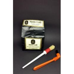 Kit Akira - 250gr café em grãos para Espresso e Escovas Para Limpeza Completa Grupo e Moinho