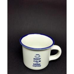 Xícara Keep Calm and Drink Coffee em Porcelana para Café - 80ml