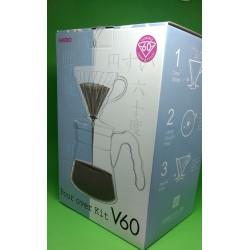 Kit V.60 n.2 Jarra de Vidro, Porta Filtro de Acrílico e Filtros de papel para Pour Over