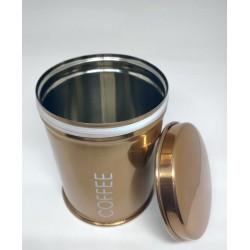 Lata em Aço Inox pequena com 250gr de café especial