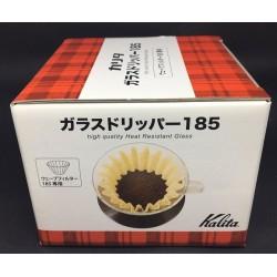 Kalita Método de Preparo de Café em Vidro - Kalita Wave 185