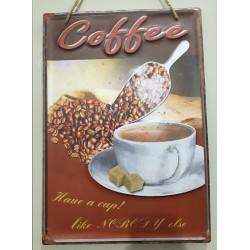 Quadro decorativo em metal estilo Vintage - Coffee