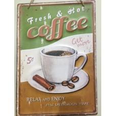 Quadro decorativo estilo Vintage - Fresh Hot Coffee