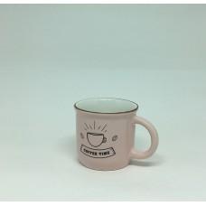 Xícara em Cerâmica Coffee Time estilo Caneca