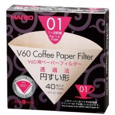 Filtro de Papel para Hario V.60 n.1 - caixa c/ 40 unidades